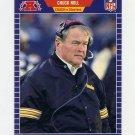 1989 Pro Set Football #355A Chuck Noll RC CO ERR - Pittsburgh Steelers