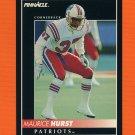 1992 Pinnacle Football #166 Maurice Hurst - New England Patriots