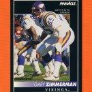 1992 Pinnacle Football #136 Gary Zimmerman - Minnesota Vikings