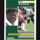 1991 Pinnacle Football #303 George Thornton RC - San Diego Chargers