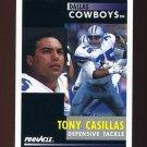 1991 Pinnacle Football #176 Tony Casillas - Dallas Cowboys