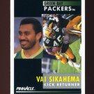 1991 Pinnacle Football #165 Vai Sikahema - Green Bay Packers