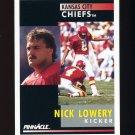 1991 Pinnacle Football #051 Nick Lowery - Kansas City Chiefs