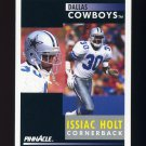 1991 Pinnacle Football #030 Issiac Holt - Dallas Cowboys