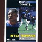 1991 Pinnacle Football #029 Reyna Thompson - New York Giants