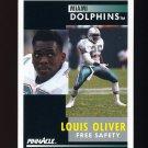 1991 Pinnacle Football #026 Louis Oliver - Miami Dolphins