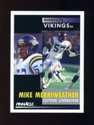 1991 Pinnacle Football #018 Mike Merriweather - Minnesota Vikings