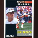 1991 Pinnacle Football #016 Jim Breech - Cincinnati Bengals