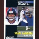 1991 Pinnacle Football #014 Sean Landeta - New York Giants
