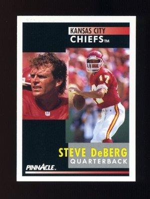 1991 Pinnacle Football #012 Steve DeBerg - Kansas City Chiefs