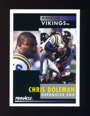 1991 Pinnacle Football #009 Chris Doleman - Minnesota Vikings