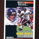 1991 Pinnacle Football #004 Mark Bortz - Chicago Bears