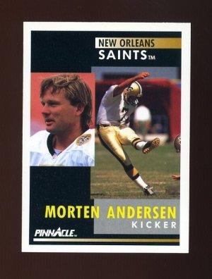 1991 Pinnacle Football #002 Morten Andersen - New Orleans Saints