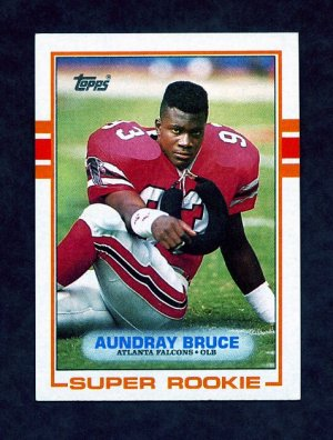 1989 Topps Football #337 Aundray Bruce RC - Atlanta Falcons