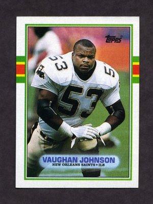 1989 Topps Football #159 Vaughan Johnson RC - New Orleans Saints