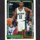 1992-93 Topps Basketball #390 Lee Mayberry RC - Milwaukee Bucks