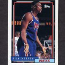 1992-93 Topps Basketball #388 Rick Mahorn - New Jersey Nets