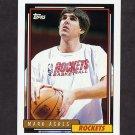 1992-93 Topps Basketball #380 Mark Acres - Houston Rockets