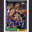 1992-93 Topps Basketball #372 Jay Humphries - Utah Jazz