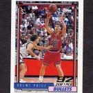 1992-93 Topps Basketball #340 Brent Price RC - Washington Bullets