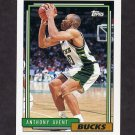 1992-93 Topps Basketball #321 Anthony Avent - Milwaukee Bucks