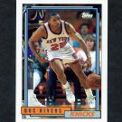 1992-93 Topps Basketball #290 Doc Rivers - New York Knicks