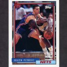 1992-93 Topps Basketball #234 Drazen Petrovic - New Jersey Nets