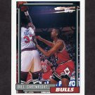 1992-93 Topps Basketball #165 Bill Cartwright - Chicago Bulls