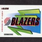 1991-92 Skybox Basketball #372 The Portland Trail Blazers