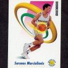 1991-92 Skybox Basketball #095 Sarunas Marciulionis - Golden State Warriors