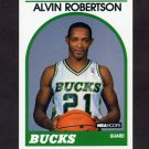 1989-90 Hoops Basketball #350 Alvin Robertson - Milwaukee Bucks