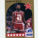 1990-91 Hoops Basketball #026 James Worthy AS - Los Angeles Lakers