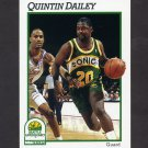 1991-92 Hoops Basketball #439 Quintin Dailey - Seattle Supersonics