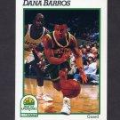 1991-92 Hoops Basketball #438 Dana Barros - Seattle Supersonics