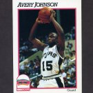 1991-92 Hoops Basketball #436 Avery Johnson - San Antonio Spurs