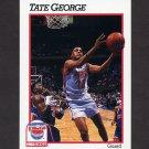 1991-92 Hoops Basketball #400 Tate George - New Jersey Nets