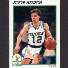 1991-92 Hoops Basketball #392 Steve Henson - Milwaukee Bucks