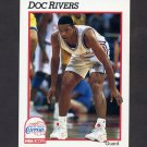 1991-92 Hoops Basketball #380 Doc Rivers - Los Angeles Clippers