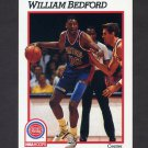1991-92 Hoops Basketball #360 William Bedford - Detroit Pistons