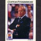 1991-92 Hoops Basketball #241 Cotton Fitzsimmons CO - Phoenix Suns