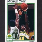 1991-92 Hoops Basketball #198 Michael Cage - Seattle Supersonics