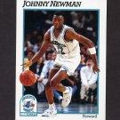 1991-92 Hoops Basketball #023 Johnny Newman - Charlotte Hornets