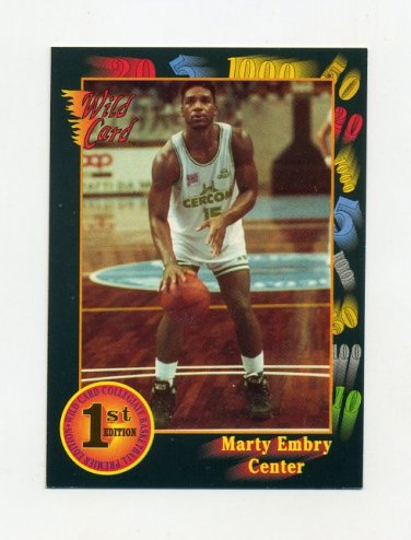 1991-92 Wild Card Basketball #041 Marty Embry - DePaul