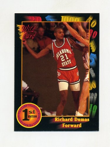 1991-92 Wild Card Basketball #039 Richard Dumas - Oklahoma State