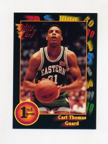1991-92 Wild Card Basketball #032 Carl Thomas - Eastern Michigan