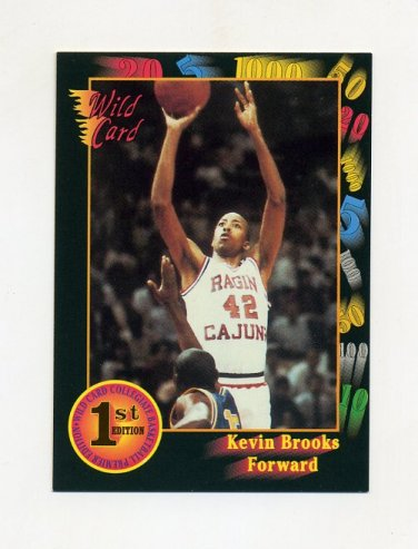 1991-92 Wild Card Basketball #022 Kevin Brooks - Southwest Louisiana