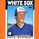 1986 Topps Traded Baseball #099T Dave Schmidt - Chicago White Sox