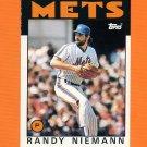 1986 Topps Traded Baseball #078T Randy Niemann - New York Mets