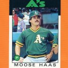 1986 Topps Traded Baseball #044T Moose Haas - Oakland Athletics