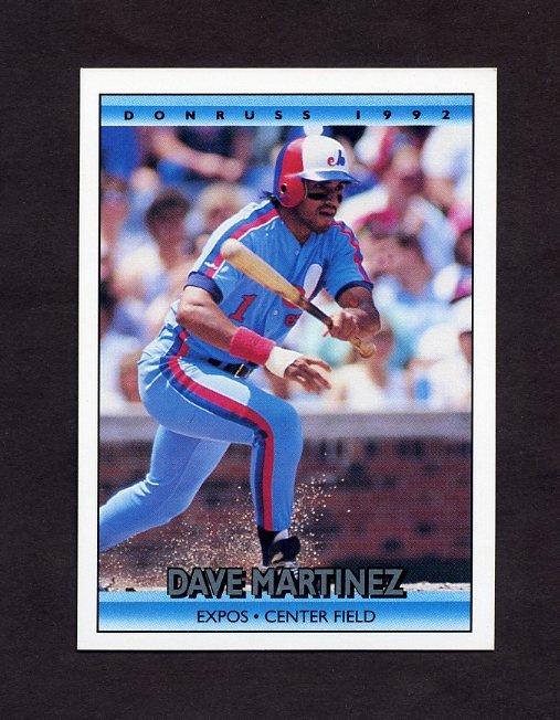 1992 Donruss Baseball #732 Dave Martinez - Montreal Expos